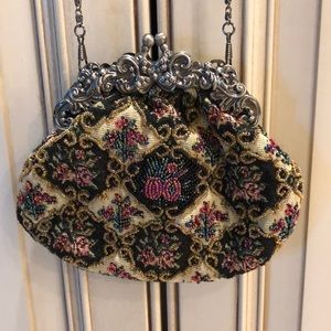 Evening bag with intricate beading